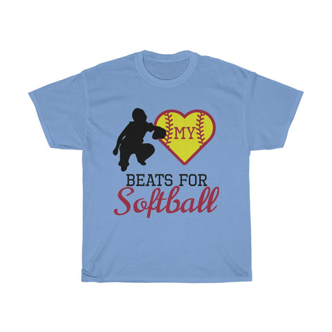 Image of My heart beats for softball (catcher)