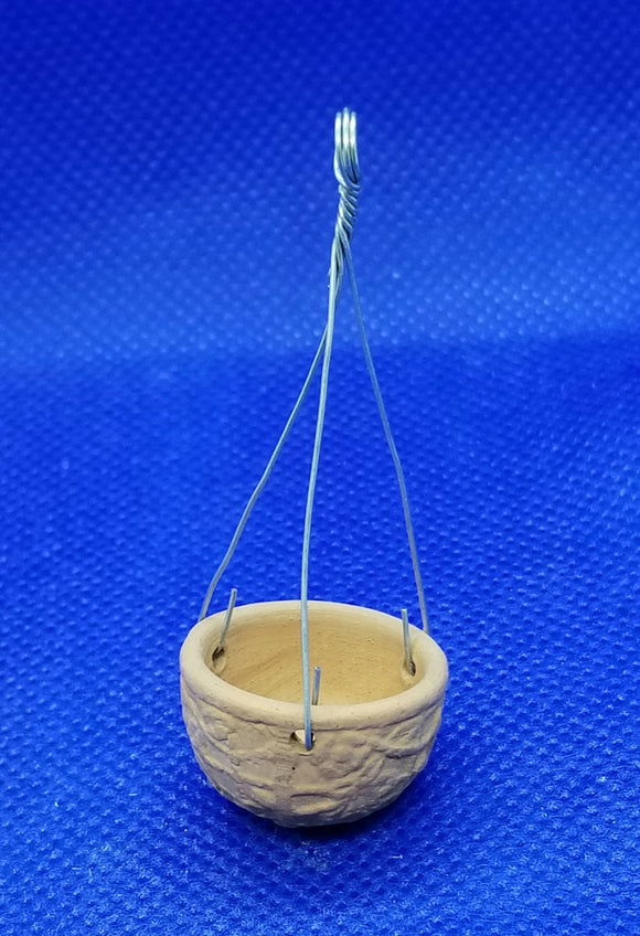 1/12  Scale Terra Cotta Hanging Planter Freedom Miniatures
