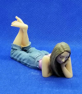 Doll - Resin - Young Girl Laying Down