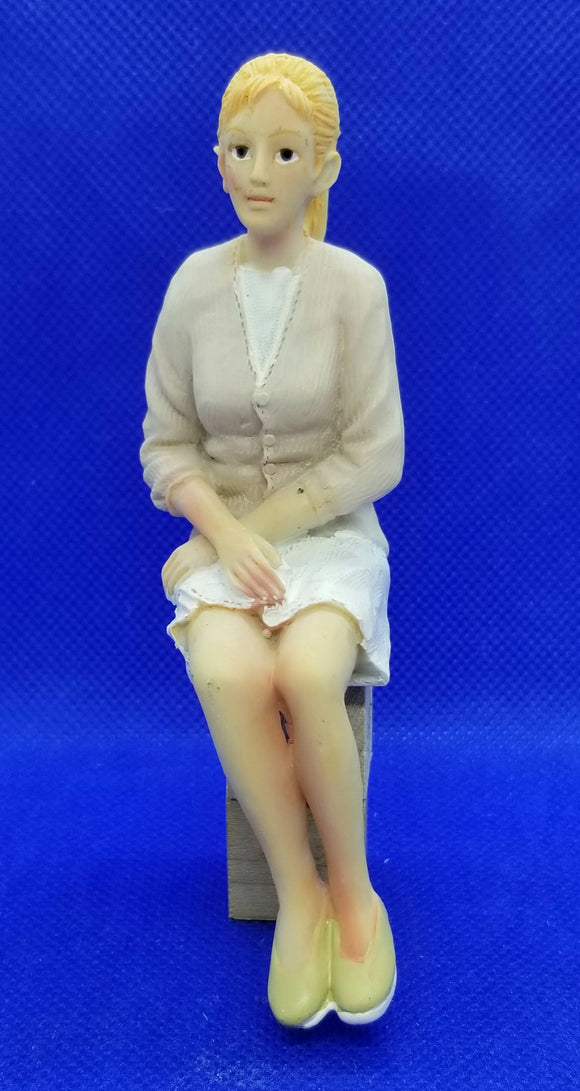 Doll - Resin - Woman in Sweater and Skirt