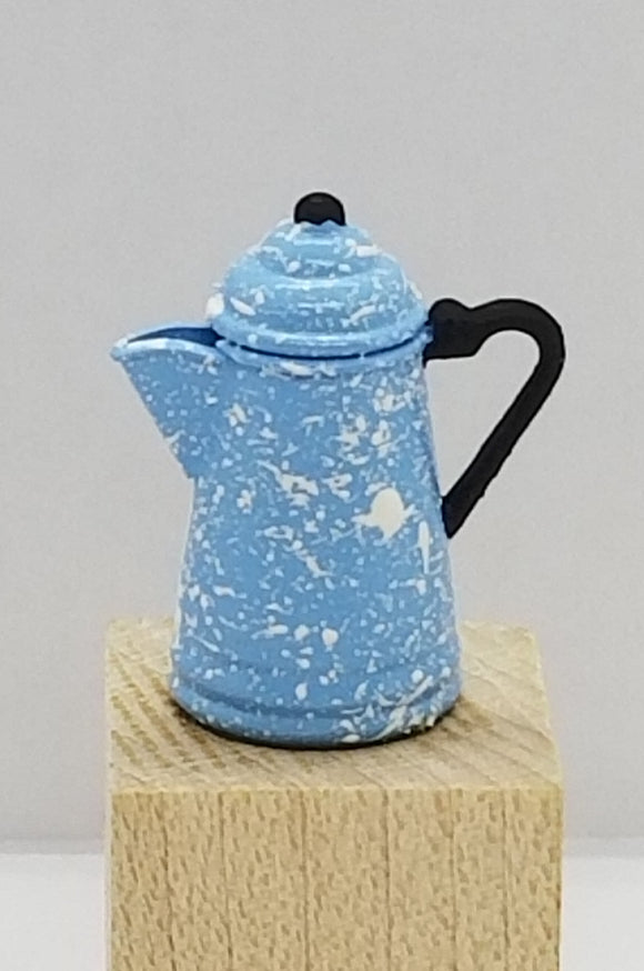 Blue and White Coffee Pot