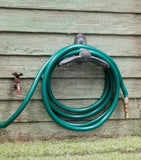 Green Garden Hose with Nozzle