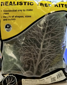 Landscaping - Realistic Tree Kits - 7 Deciduous Trees