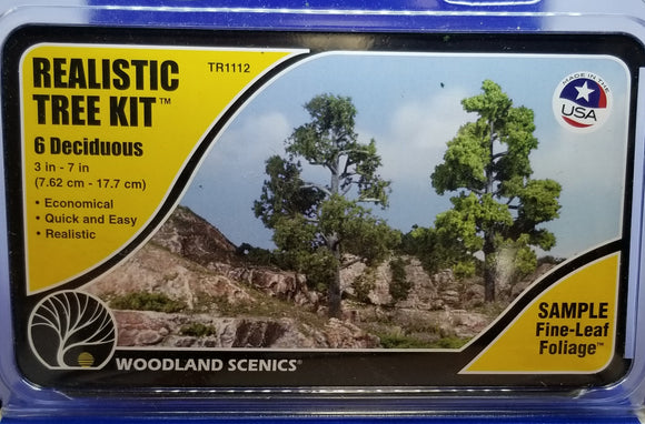 Landscaping - Realistic Tree Kits - 6 Deciduous