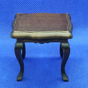 1/12 Scale Walnut Side Table - Dollhouse Miniature