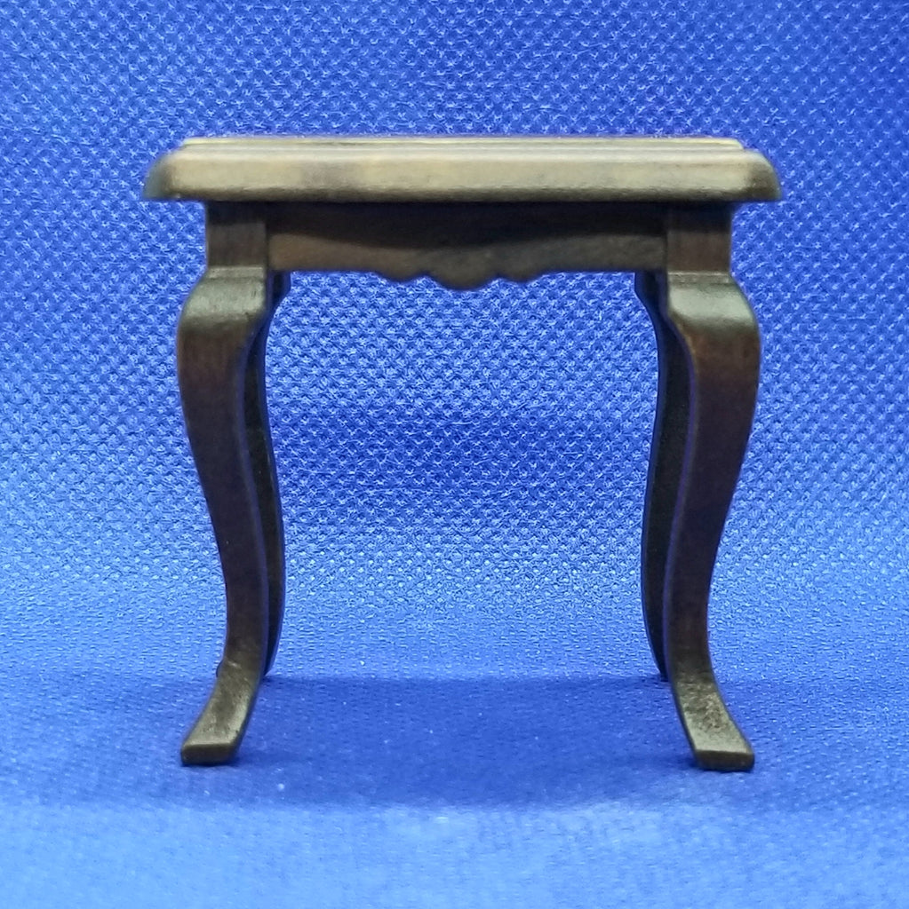 1/12 Scale Walnut Side Table - Dollhouse Miniature Freedom Miniatures