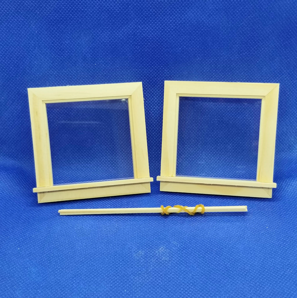 1/12 Scale Glazed Dormer Windows - Dollhouse Miniature - Freedom Miniatures