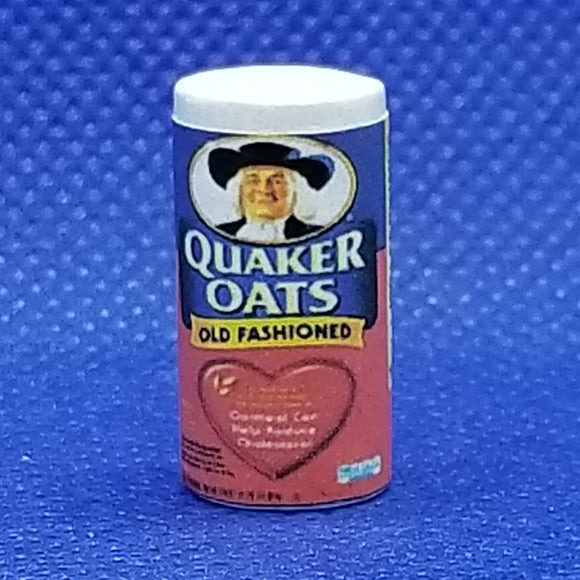 Miniature Quaker Oats - 1/12 Scale - Dollhouse