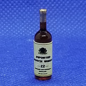 1/12 Scale Miniature Bottle of Imported Scotch Whiskey - Dollhouse