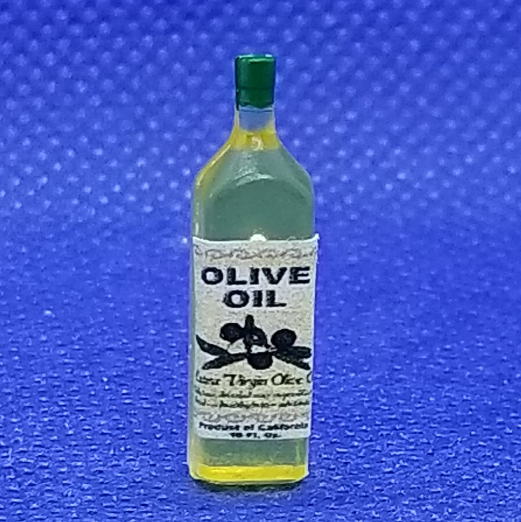1/12 Scale Bottle of Olive Oil - Dollhouse Miniature Freedom Miniatures