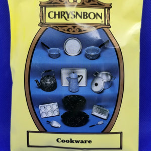 Chrysnbon Cookware Set - 1/12 Scale Dollhouse Miniature