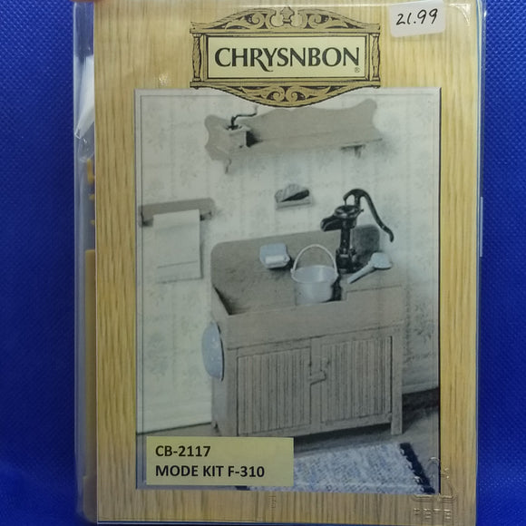 Chrysnbon Dry Sink Kit - 1/12 Scale Dollhouse Miniature