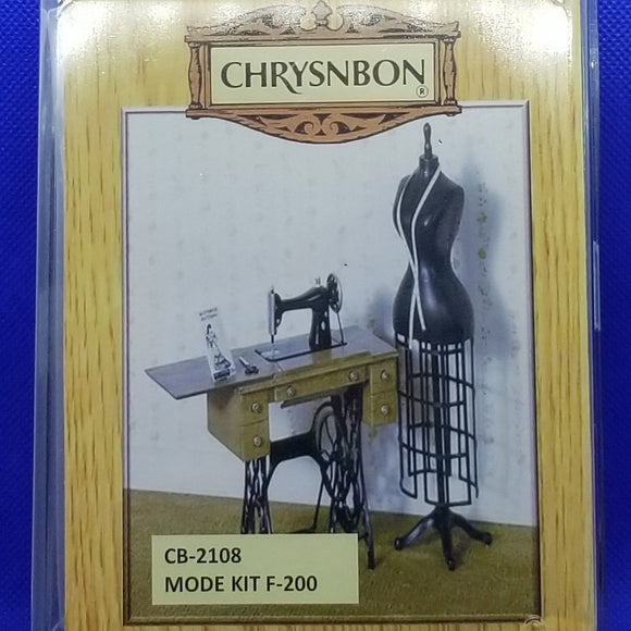 Chrysnbon Sewing Kit - 1/12 Scale Dollhouse Miniature - Diorama
