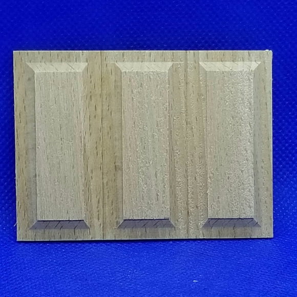 3-Panel Wainscot Panel - 1/12 Scale - Dollhouse Miniature