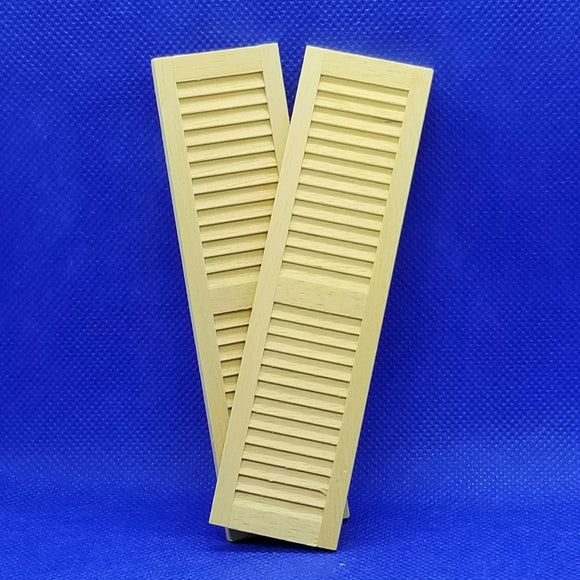 1/12 Scale Louvered Shutters - 2 Pack - Dollhouse Miniatures