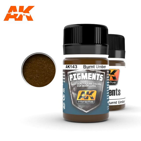 AK Interactive Pigment - AK143 - Burnt Umber Freedom Miniatures