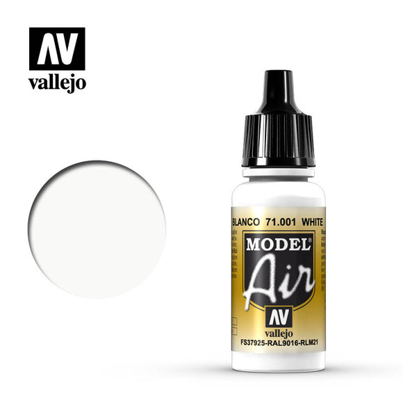 Vallejo Model Air Paint 71.001 - White