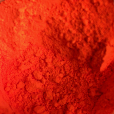 Orange Red Fluorescent Color - Ethically Sourced and Cruelty Free