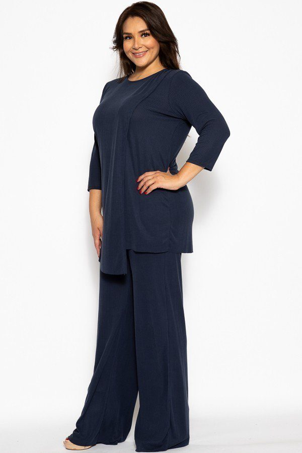 Oriental Empress 2 Piece Outfit - Deep Blue