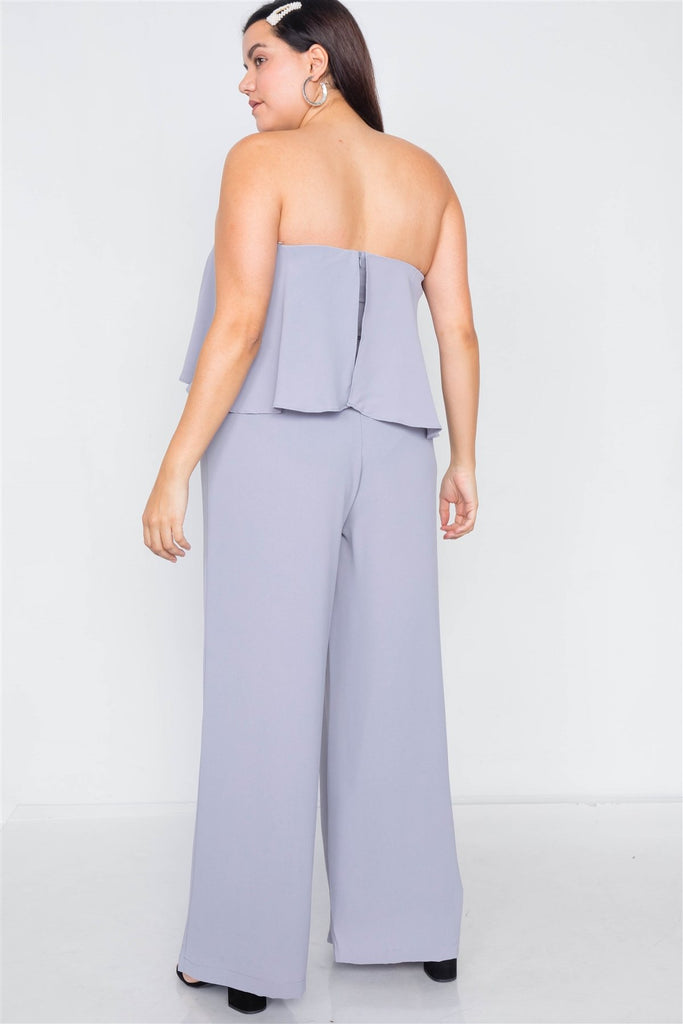 Pull Back The Curtains Wide Leg Jumpsuit - Royal Purple