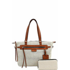 Annita Cleo Handbag With Matching Wallet - Beige - Accessories - Handbag
