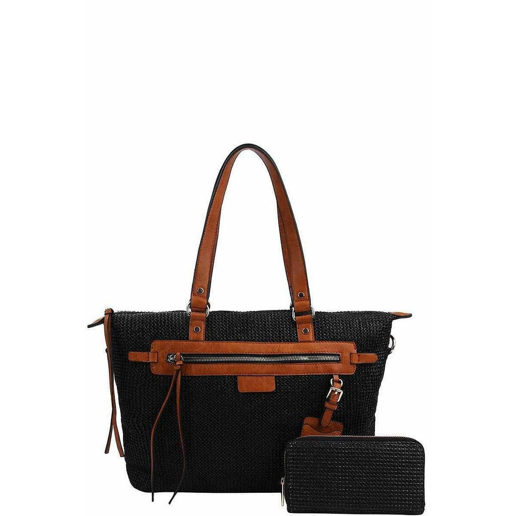 Annita Cleo Handbag With Matching Wallet - Black - Accessories - Handbag
