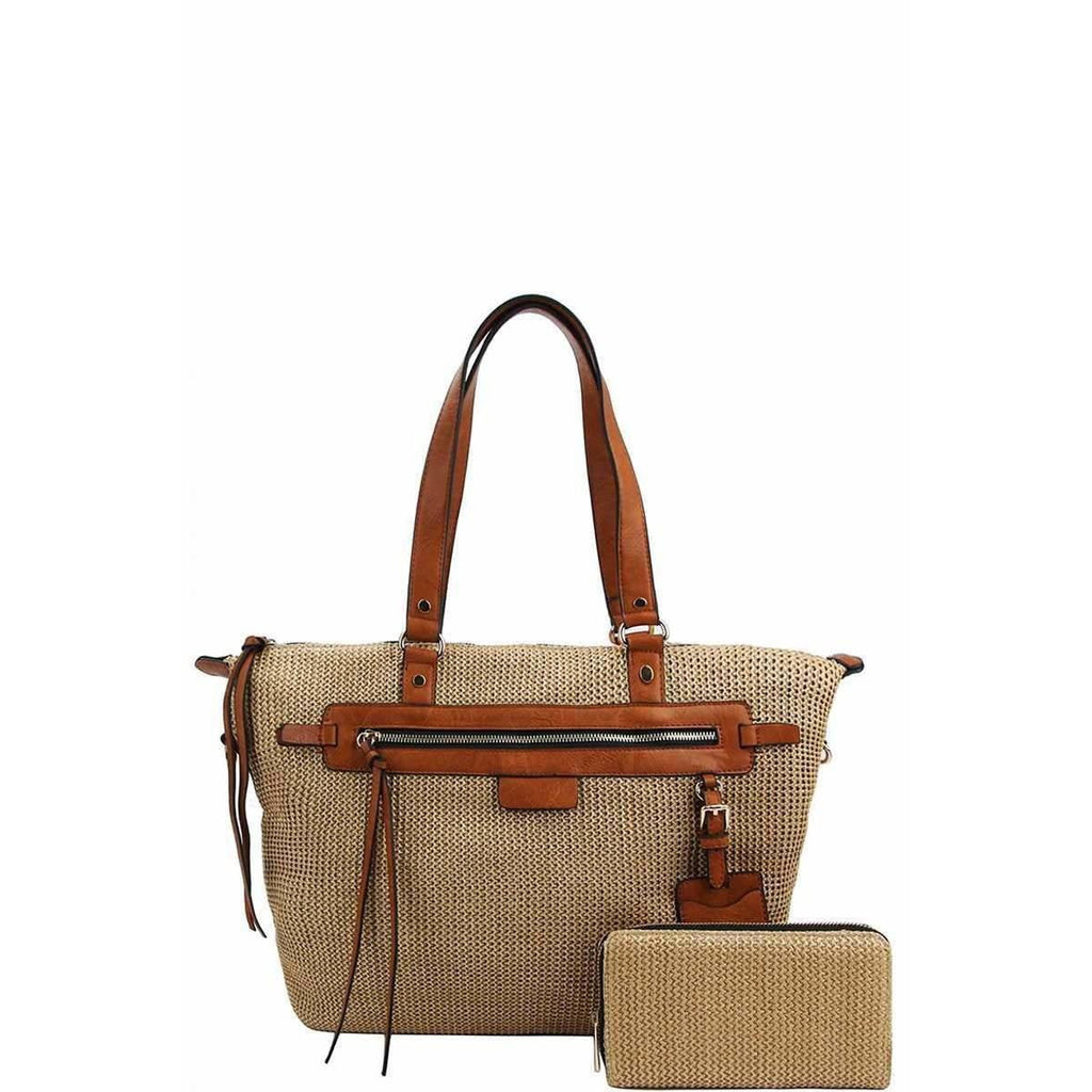 Annita Cleo Handbag With Matching Wallet - Tan - Accessories - Handbag