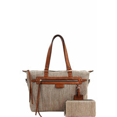 Annita Cleo Handbag With Matching Wallet - Taupe - Accessories - Handbag