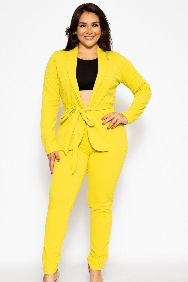 Classic Winner Mode Suit - Chartreuse / US:18-20 | 2XL - Jumpsuits & Rompers