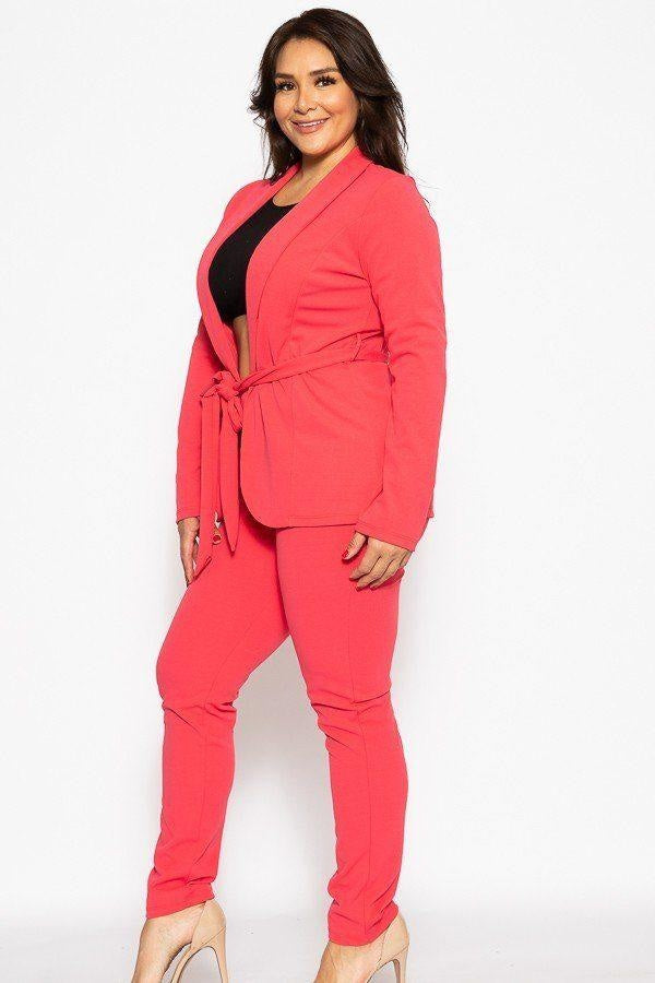 Classic Winner Mode Suit - Hot Pink / US:18-20 | 2XL - Jumpsuits & Rompers