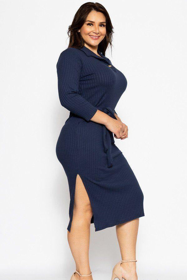 Hold me Close Midi Dress - Long Sleeve Dresses