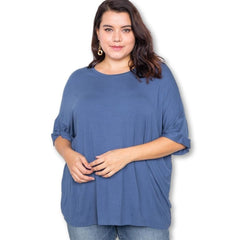 Home Sweet Home Top - Denim Blue - Tops - Halfsleeve