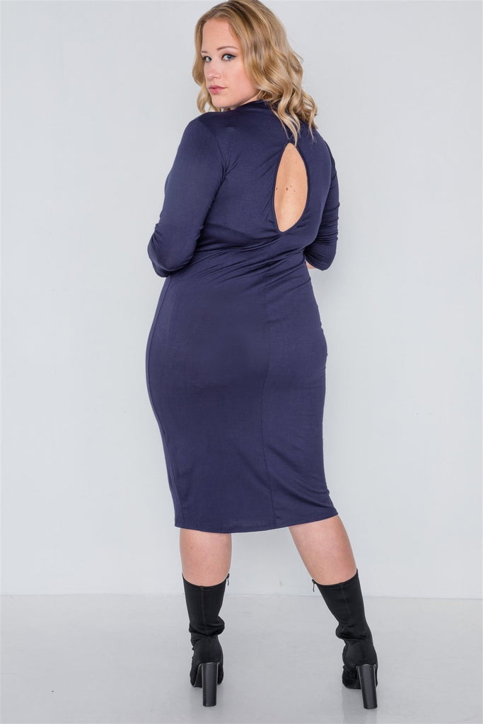 Off The Vine Midi Dress - US:22-24 | 3XL - Long Sleeve Dresses