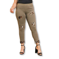 Skinny Animal Lover Pants - Olive / US:10-12 | L - Bottoms - Pants