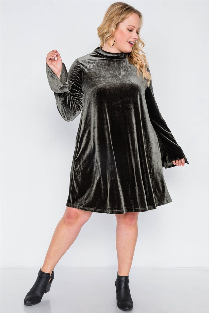 Sweet Velvet Dream Mini Dress - Black / US:18-20 | 2XL - Long Sleeve Dresses