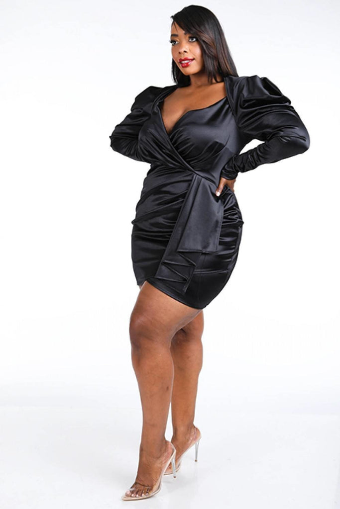 Take it All Mini Dress - Black - Long Sleeve Dresses