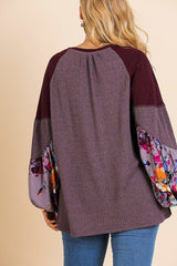 Take it Away Knit Top - Grape - Tops - Longsleeve