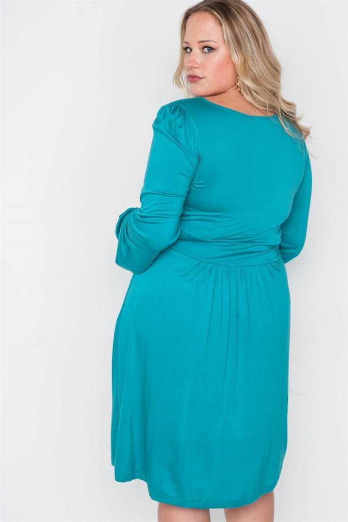 The Cinderella Story Midi Dress - Long Sleeve Dresses