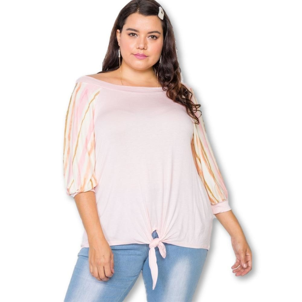 Woke Like Pink Front Knot Top - Tops - Halfsleeve