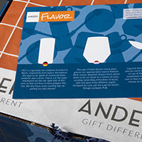 Anders Gift Box Flavor Product Info Card