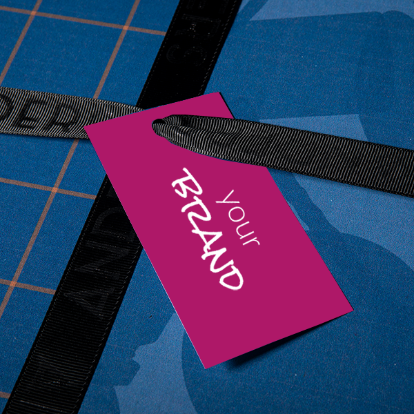 Branded Gift Tag on Anders Gift Box for Corporate Clients