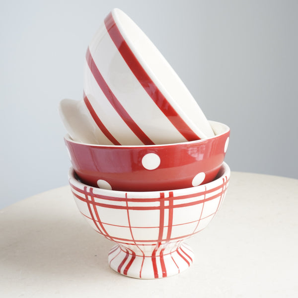 French Red Mini Bowls - Lily Charleston