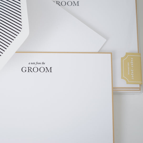 From the Groom Sugar Paper Note Set