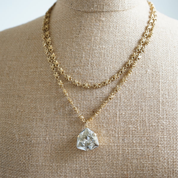 Parisienne Geo Crystal Necklace - Lily