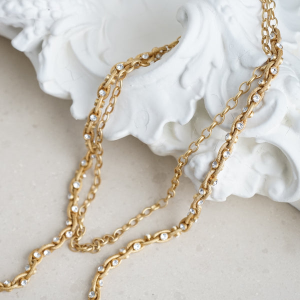 La Vie Parisienne Crystal Link Necklace - Lily Charleston