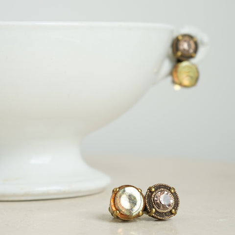 JL Blin Honey Luster Clip Earrings - Lily Beaufort