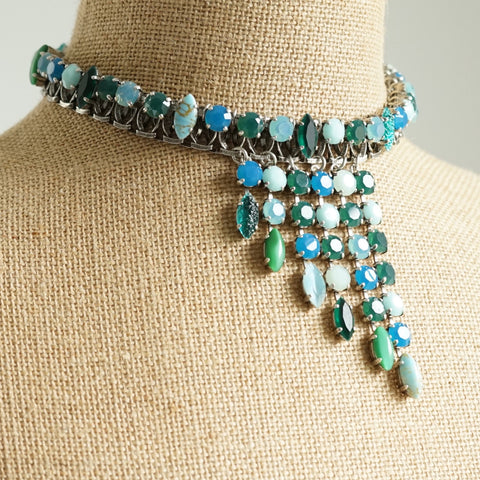 JL Blin Emerald Cascade Necklace - Lily Charleston