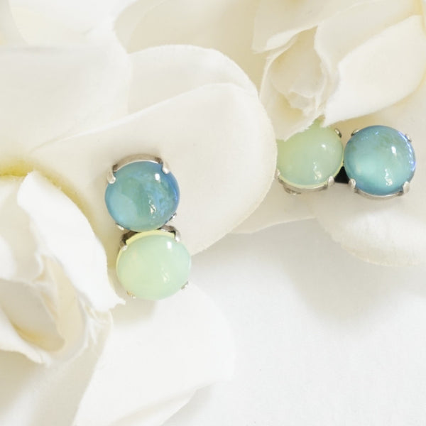 JL Blin Sea Green Clip Earrings - Lily Charleston