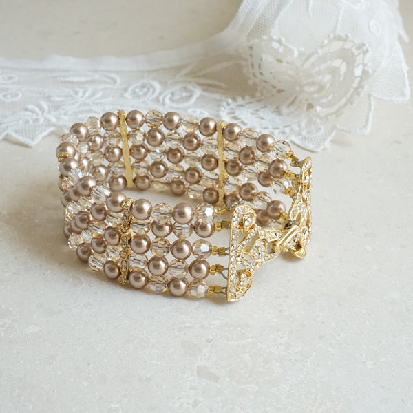 Champagne Crystal Bracelet - Lily Beaufort