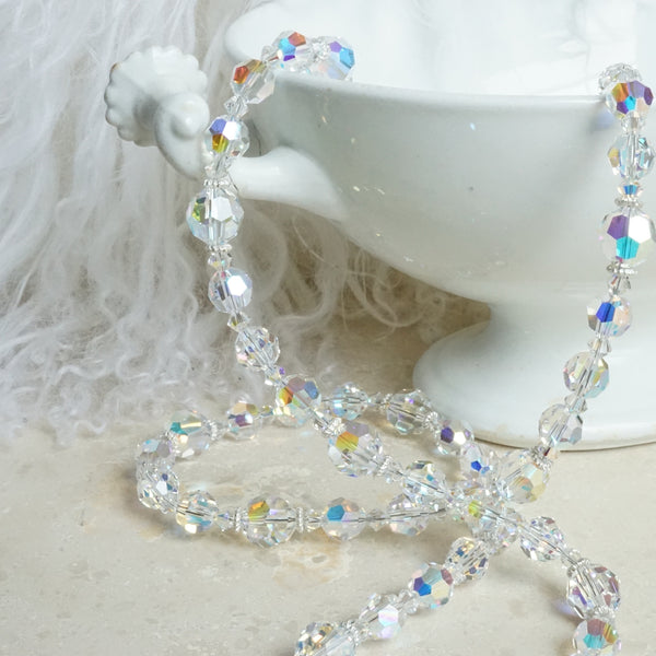 Aurora Borealis Crystal Necklace - Lily Beaufort